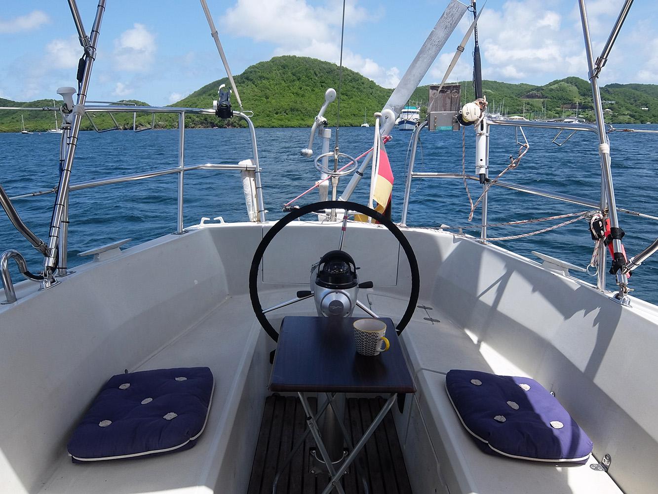 Grenada, Woburn Bay, Sail boat.