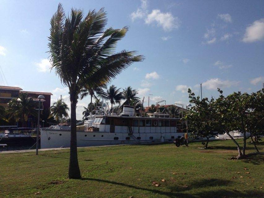 Cuba, Havana. Sailboat New Beginning in  Cuba