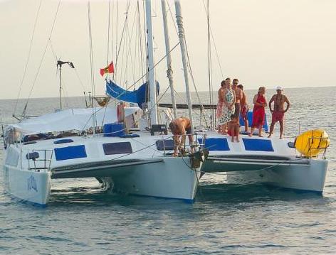 Panama, San Blas. Sailing in the San Blas Islands
