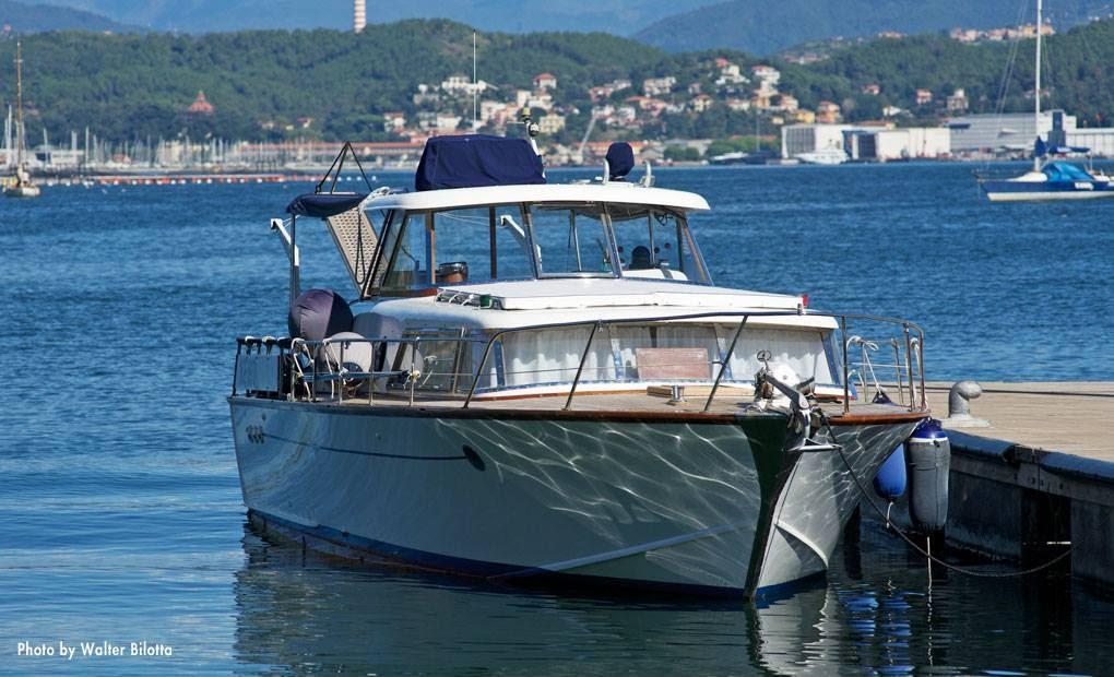 Italy, Ameglia. Wood boat