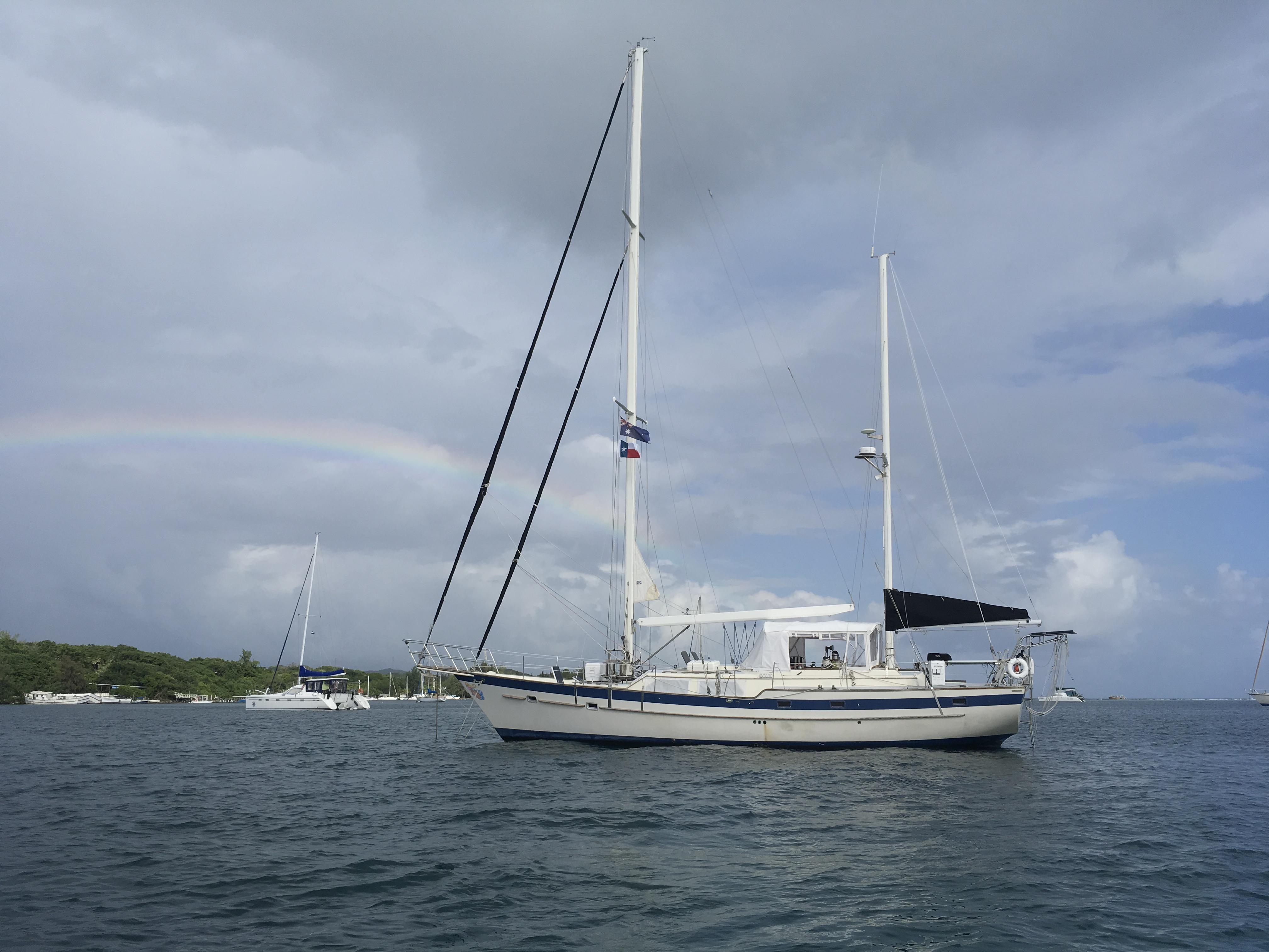 Honduras. Sailing yacht freya