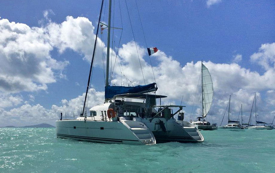 Virgin Islands, catamaran Timaiao