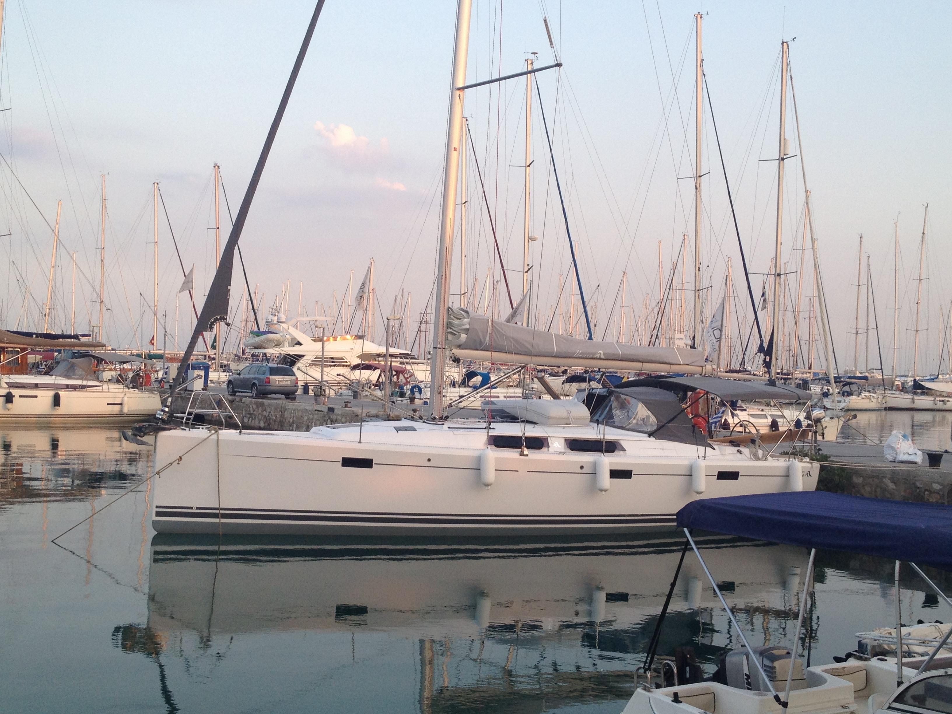 Greece, Athens, Alimos  Marina. HANSE 415