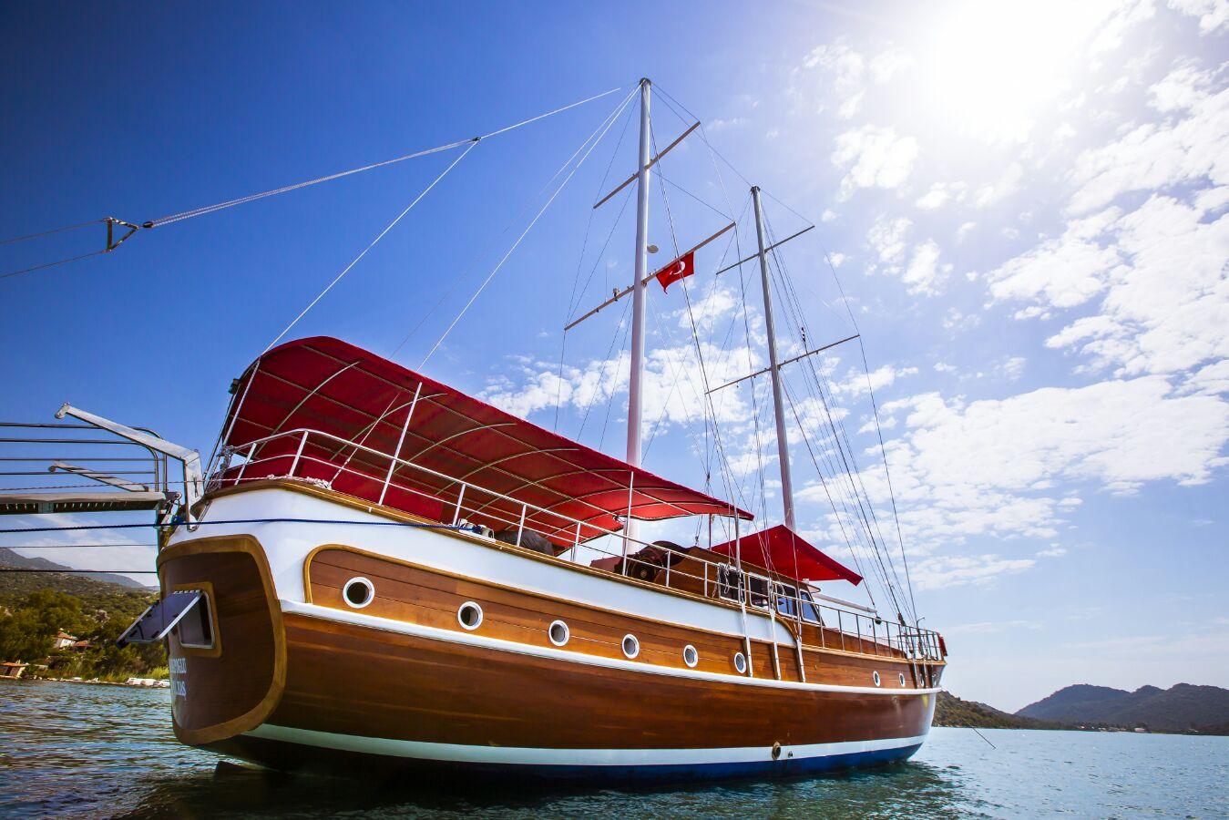 Italy, Bosa. Blue cruise Italy an..