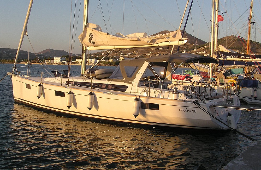 Greece, Athens, Marine Alimos. BENETEAU OCEANIS 48 New boat