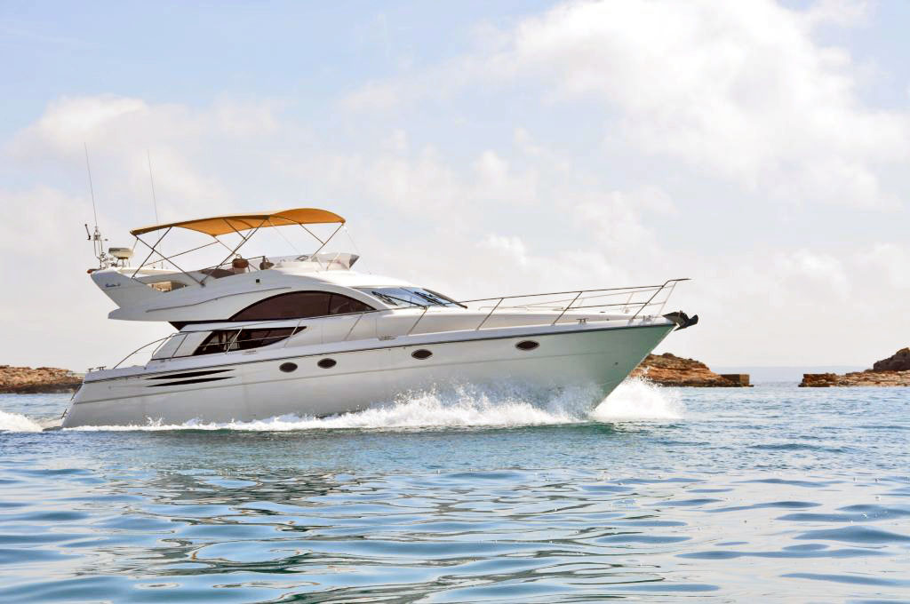 Spain, Mallorca, Club de Mar. FAIRLINE PHANTOM 50'