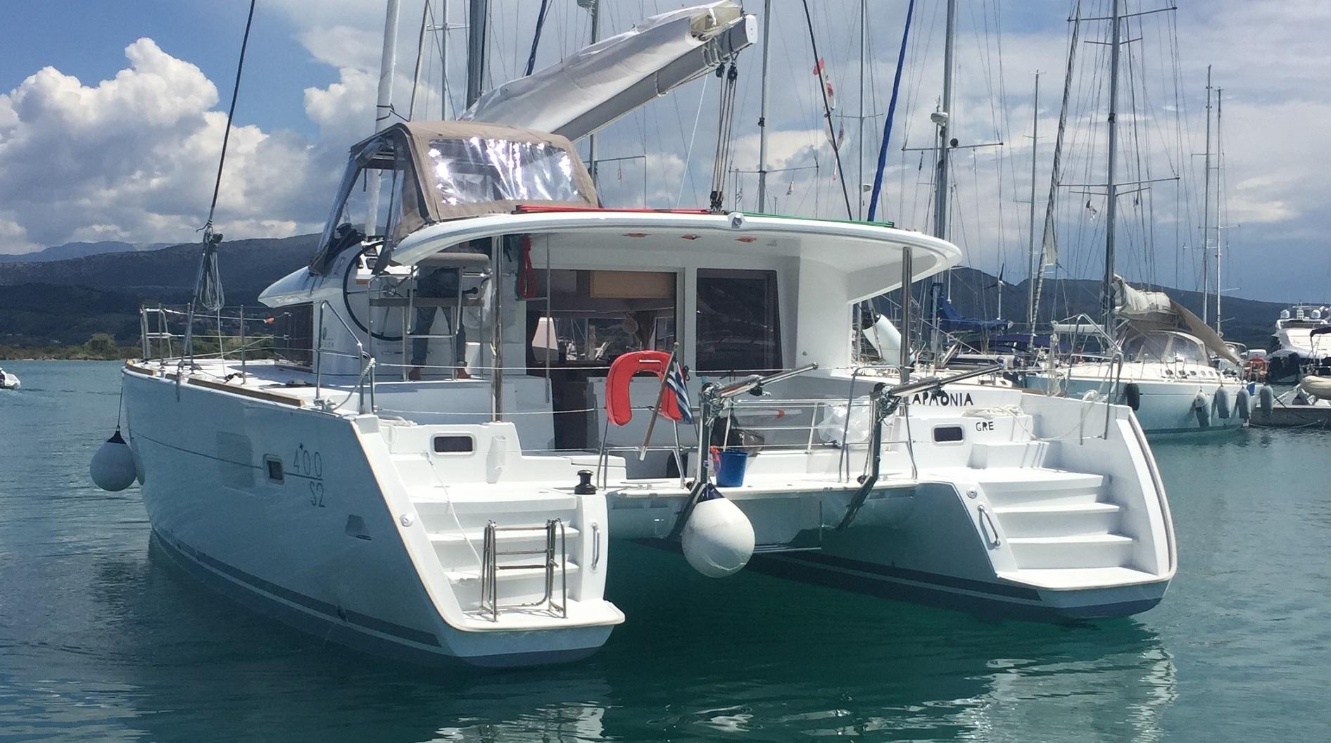Greece, Lefkada. Catamaran Lagoon..