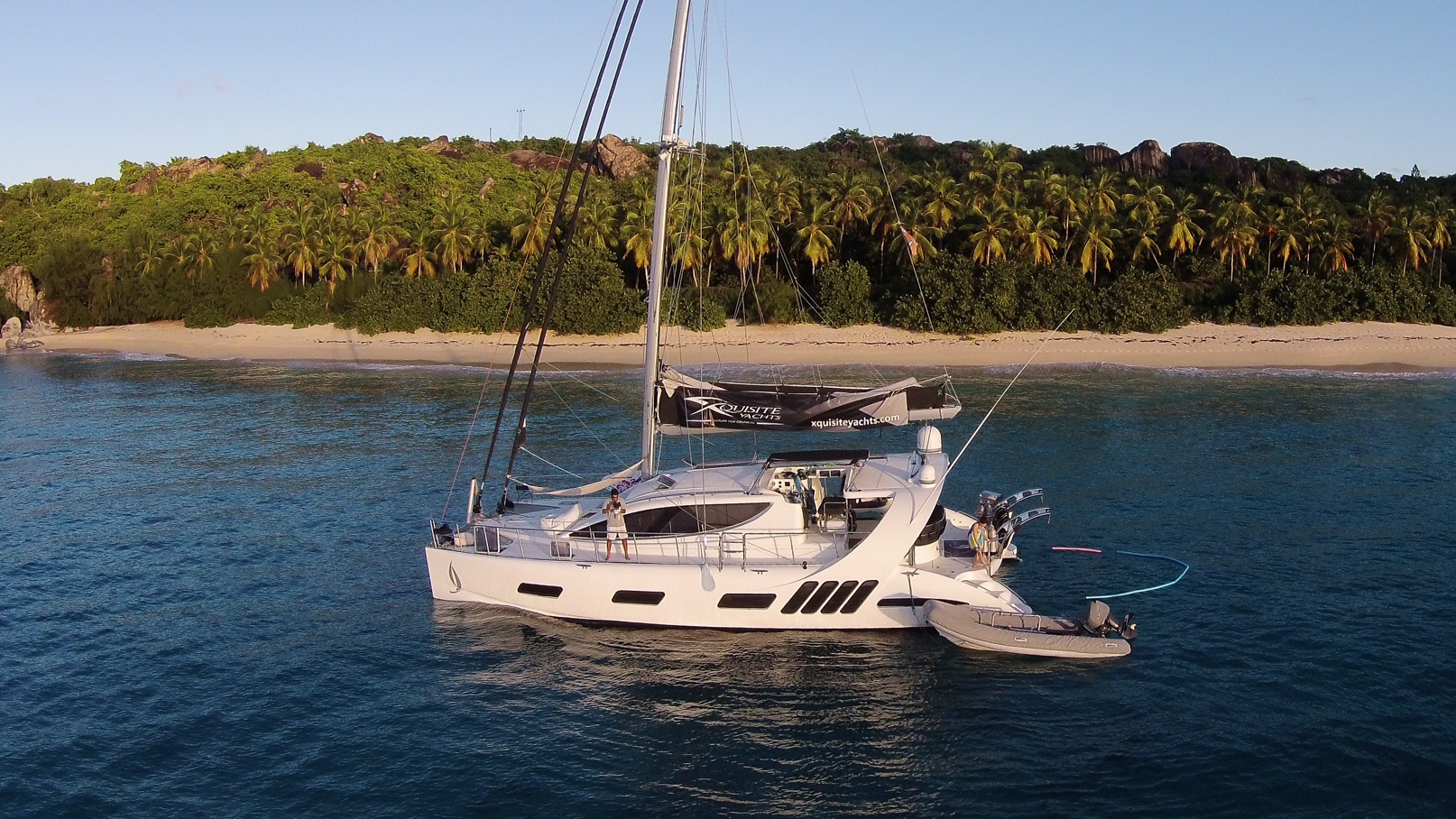 British Virgin Islands, Village Cay Marina. Luxury sailboat