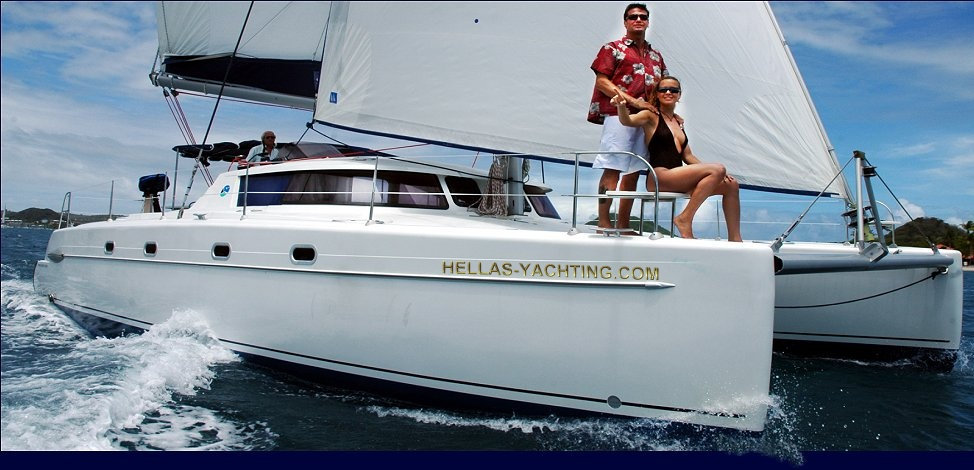 Greece, Athens, Marine Alimos. LUXURY CATAMARAN BELIZE 43