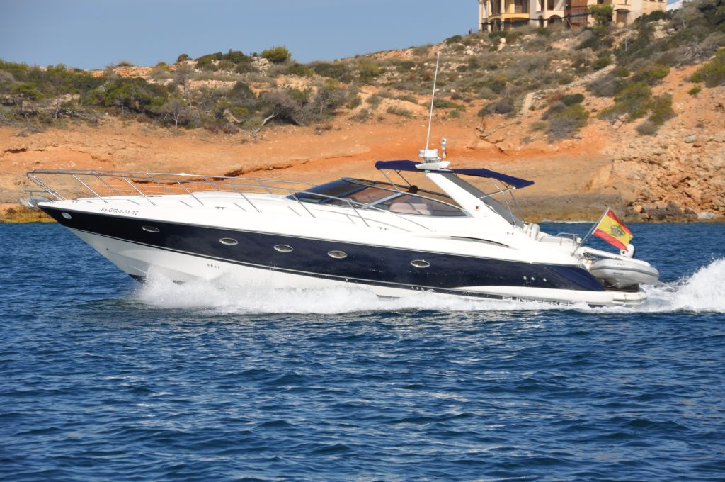 Spain, Mallorca, Port Adriano. SUNSEEKER CAMARGUE 44'
