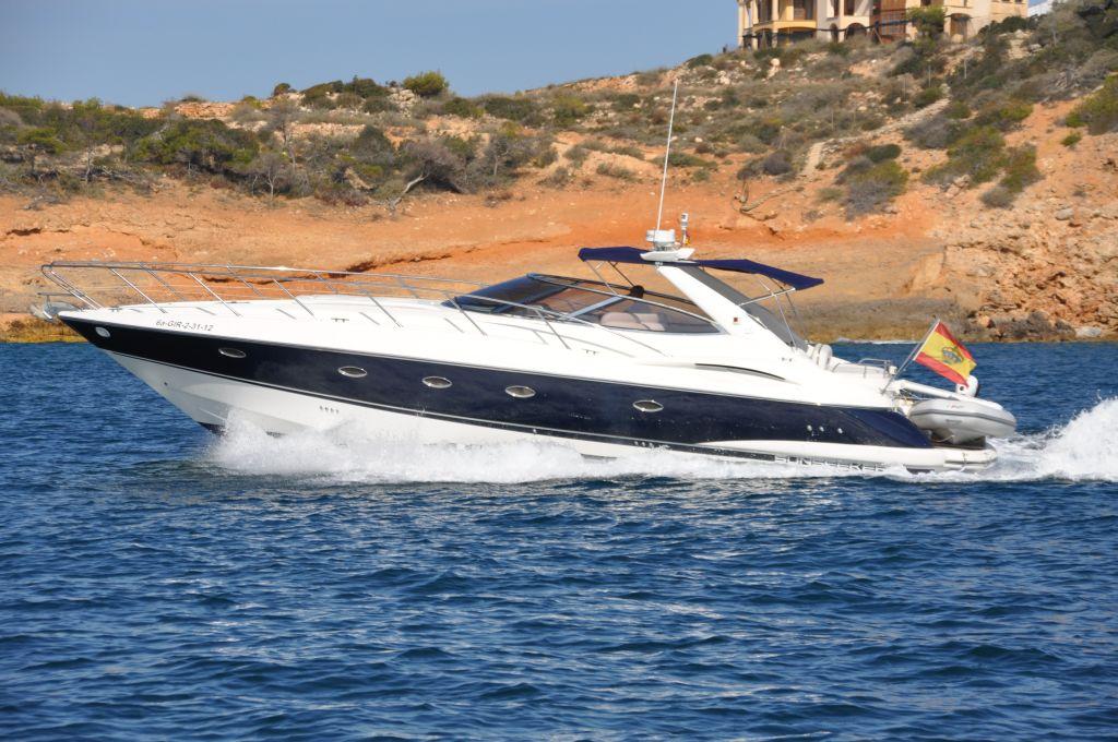 Spain, Mallorca, Port Adriano. SUNSEEKER CAMARGUE 44'