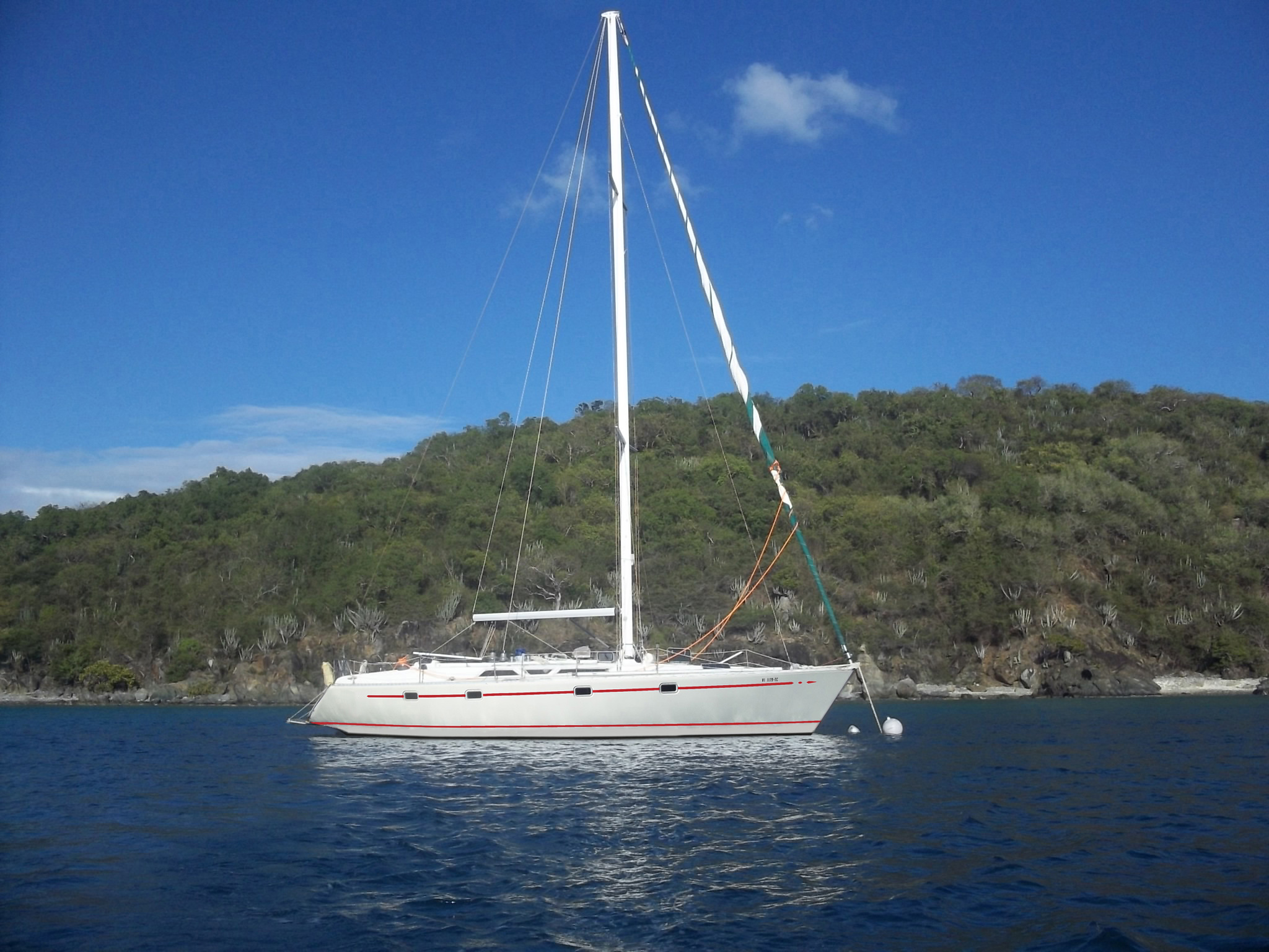 US. Virgin Islands, St. Thomas. live aboard in Paradise