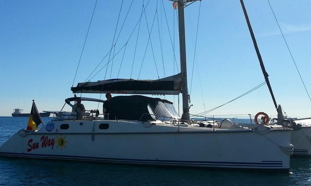 Italy, Taranto. Sail Catamaran in..