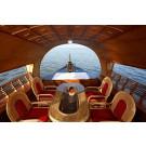 India, Goa, Calangute. Night Cruise on a House Boat in Goa