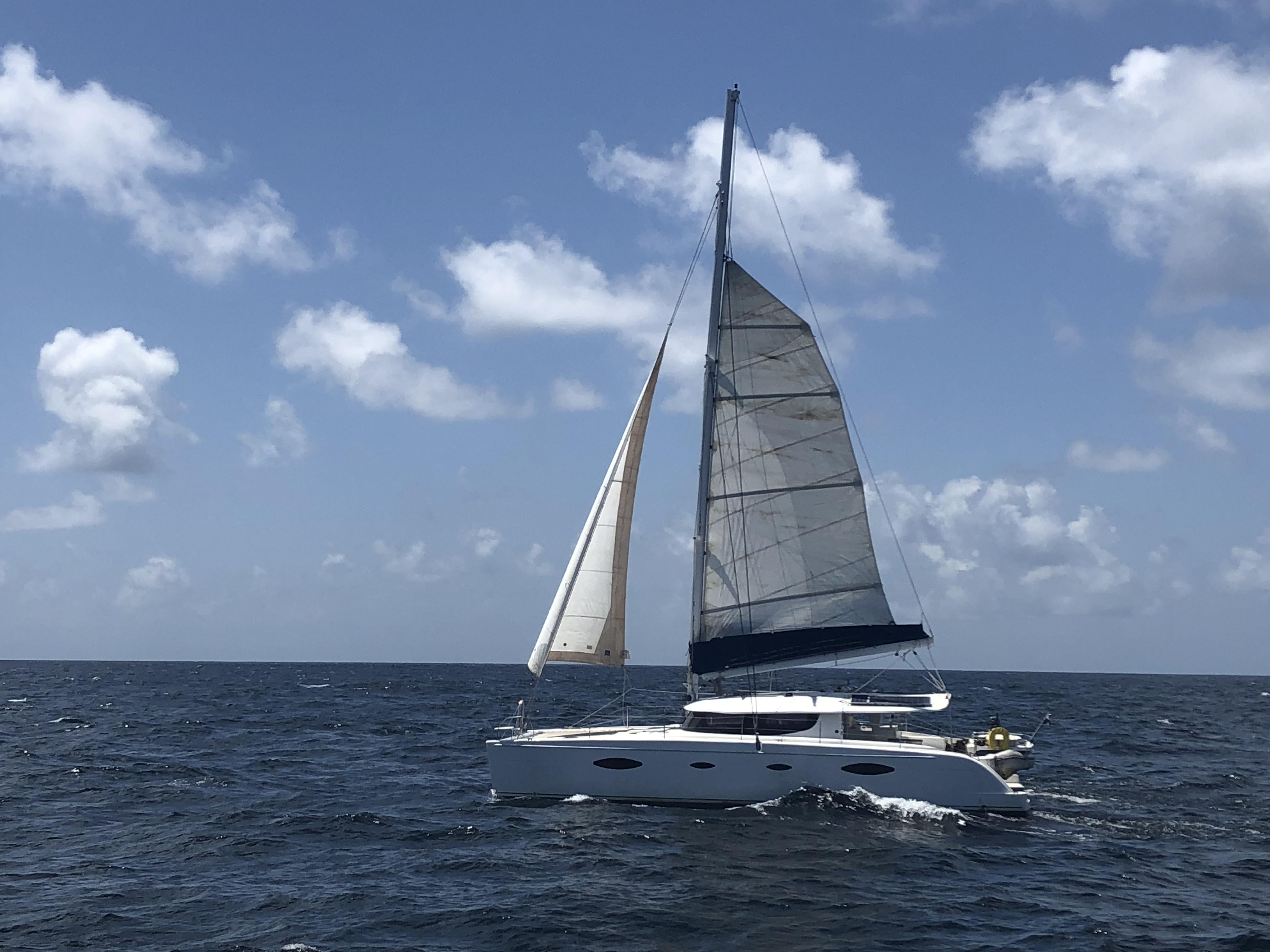 Panama, San Blas Islands. Catamaran Fountaine Pajot Salina 48
