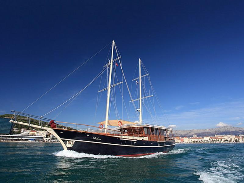Croatia, Split. Gulet Andrea