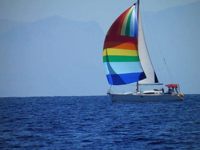 Greece, Kalamata. Sailing boat
