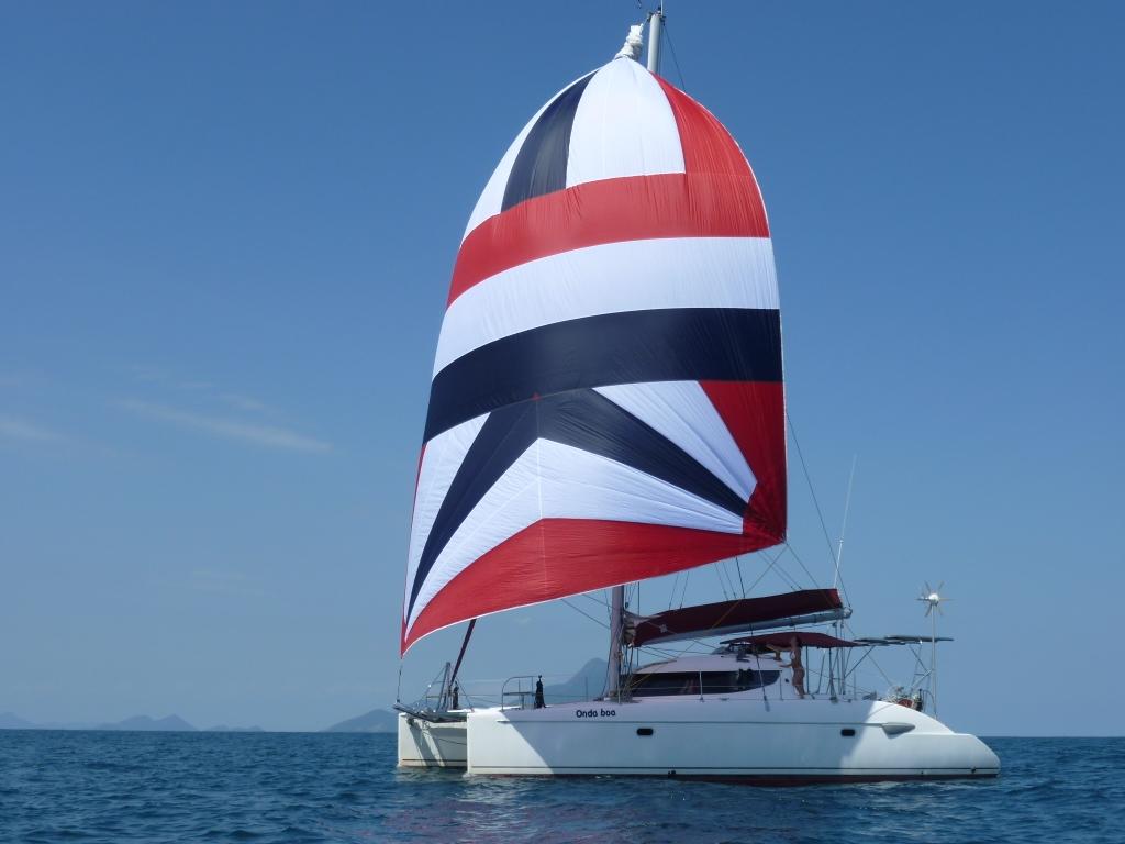 Brazil, Angra dos Reis. Comfortable Spacious Catamaran